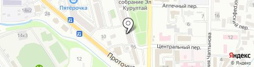 Общежитие на карте Горно-Алтайска