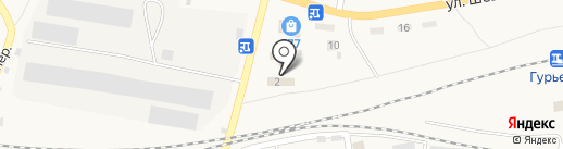 Авто-154 на карте Гурьевска
