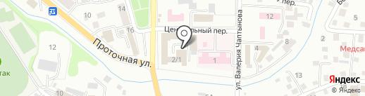Мамонтёнок на карте Горно-Алтайска