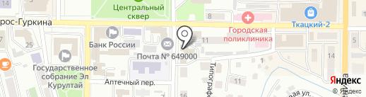Центр информационно-методического обеспечения муниципальных образовательных учреждений г. Горно-Алтайска на карте Горно-Алтайска
