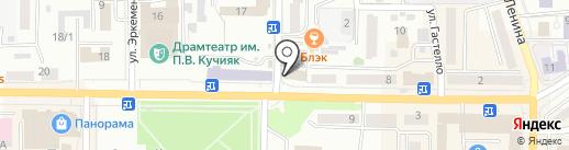 Чедирген на карте Горно-Алтайска