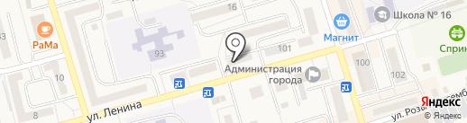 Непоседа на карте Гурьевска