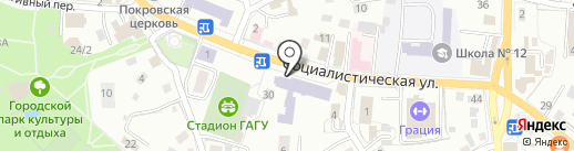 Студенческая на карте Горно-Алтайска