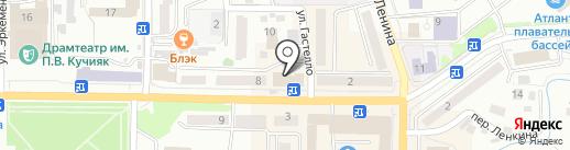 Глобус на карте Горно-Алтайска
