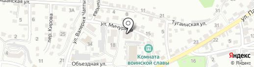 Горно-Строй на карте Горно-Алтайска