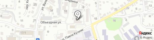 Пожарная часть на карте Горно-Алтайска