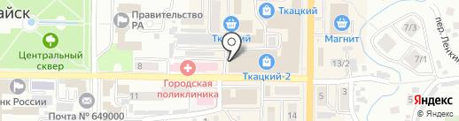 Солнышко на карте Горно-Алтайска