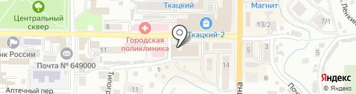 Карат на карте Горно-Алтайска