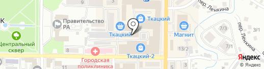 Ангелина на карте Горно-Алтайска