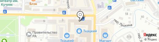 Каблучок на карте Горно-Алтайска