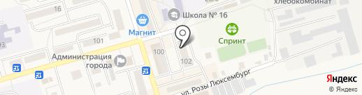 Позитрон на карте Гурьевска