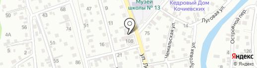 Гевама на карте Горно-Алтайска