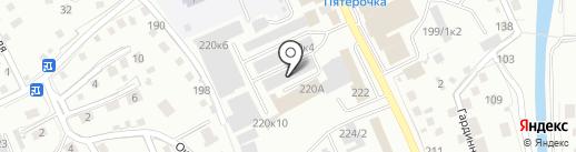 Магазин ковров и мебели на карте Горно-Алтайска
