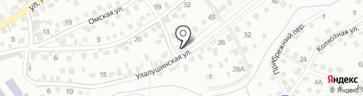 Берёзка на карте Горно-Алтайска