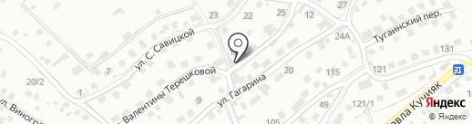 Счастливый пятак на карте Горно-Алтайска