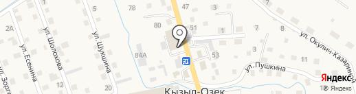 Сеть платежных терминалов на карте Кызыла-Озека