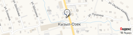 Транзит на карте Кызыла-Озека