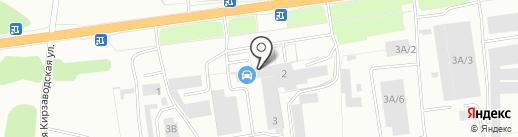 КОНТАКТ ПЛЮС на карте Кемерово