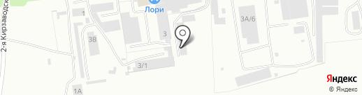 СТО у Колоса на карте Кемерово