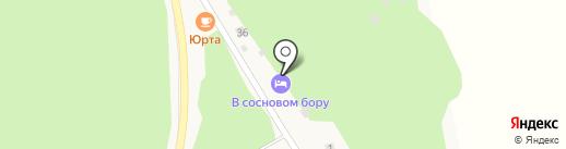 У соснового бора на карте Чемала