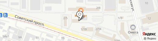 Займер на карте Кемерово