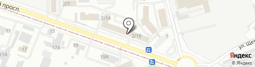 Кадастровый инженер Сюткин Д.А. на карте Кемерово