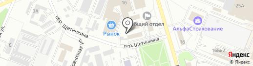 Киоск по продаже хлебобулочных изделий на карте Кемерово