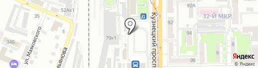 Киоск фастфудной продукции на карте Кемерово