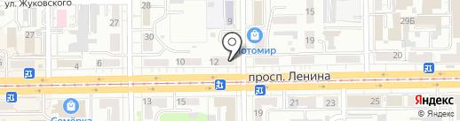Магазин товаров для курения на карте Кемерово