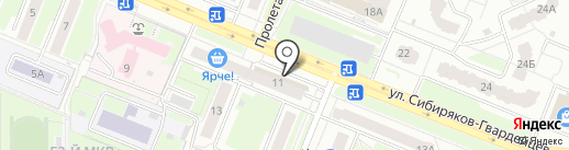 Банкомат, Мособлбанк, ПАО на карте Кемерово