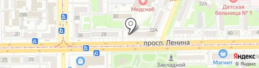 Пивная витрина на карте Кемерово