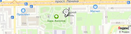 Зимняя Вишня на карте Кемерово