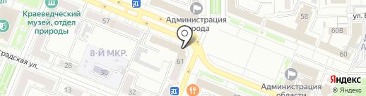 Городская служба почты-1 на карте Кемерово