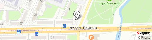 Модерн на карте Кемерово