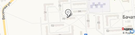 Магазин автозапчастей на карте Бачатского