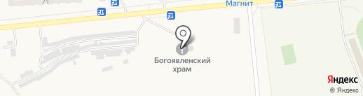 Приход храма Богоявления на карте Бачатского