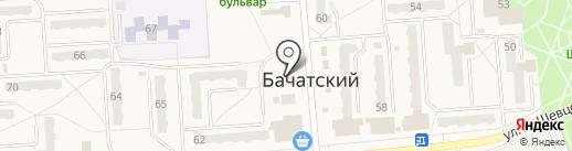 Участковый пункт полиции на карте Бачатского
