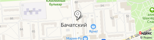 Кружка на карте Бачатского