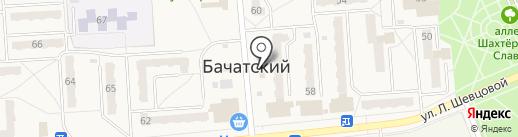 Людмила на карте Бачатского