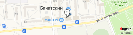 Аврелия на карте Бачатского