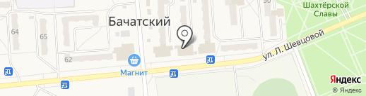 Магазин сувениров на ул. Шевцовой на карте Бачатского