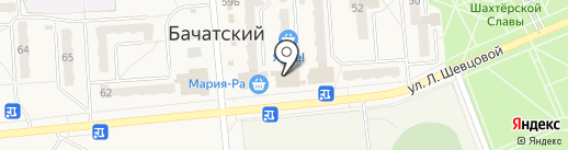 Банкомат, Сбербанк России на карте Бачатского