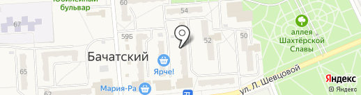 Малыш на карте Бачатского