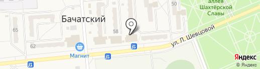 Пятёрочка на карте Бачатского