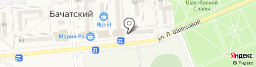 Эвкалипт на карте Бачатского