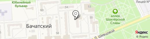 Мойдодыр на карте Бачатского