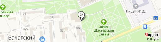 Дельта на карте Бачатского