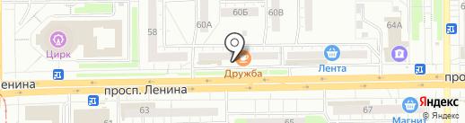 Русский пируэт на карте Кемерово