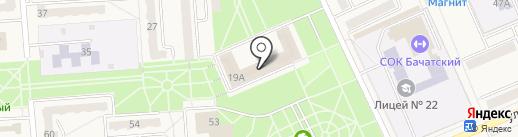 Бачатский угольный разрез на карте Бачатского