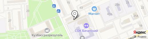 Лёвушка на карте Бачатского